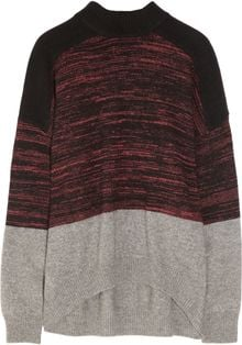 Alexander Wang Color-block Oversized Knitted Sweater - Lyst