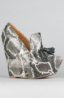 Jeffrey Campbell The Zealous Shoe in Black and Beige Python - Lyst