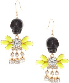 ASOS Collection Asos Skull Drop Earring - Lyst
