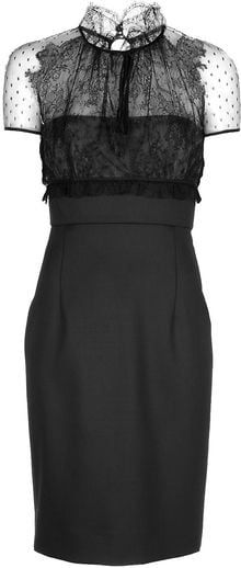 Valentino Lace Detail Dress - Lyst