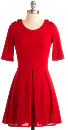 ModCloth Ladylike in Red Dress - Lyst