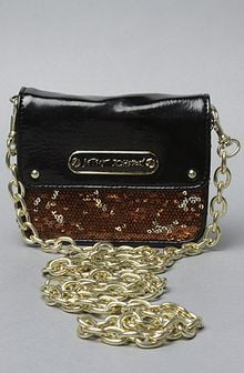 Betsey Johnson The Glitzy Cross Body in Bronze - Lyst