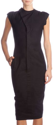 Rick Owens Asymmetric Front Dress - Lyst