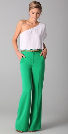 Alice + Olivia High Waist Wide Leg Pants - Lyst