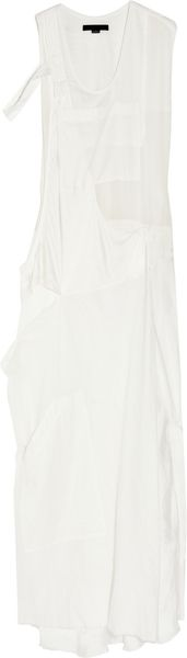 Alexander Wang Asymmetric Silk-blend Maxi Dress - Lyst