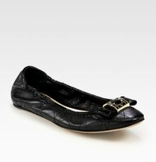 Dior Cannage Patent Leather Bow Ballet Flats - Lyst