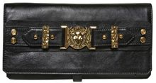 Balmain Delphine Bullhead Leather Clutch - Lyst