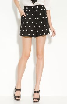 Marc By Marc Jacobs Pleated Silk Polka Dot Shorts - Lyst