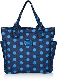 Marc By Marc Jacobs Tate Medium Polka Dot-print Nylon Tote - Lyst
