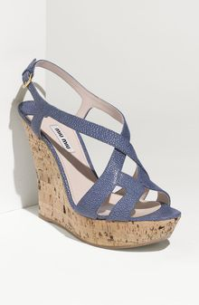 Miu Miu Stingray Wedge - Lyst