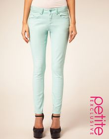 Tba Asos Petite Exclusive Mint Green Skinny Jean - Lyst