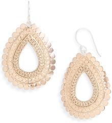 Anna Beck Flores Small Chain Open Drop Earrings - Lyst