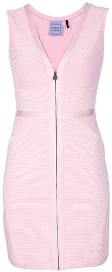 Hervé Léger Stretch Sleeveless Dress - Lyst