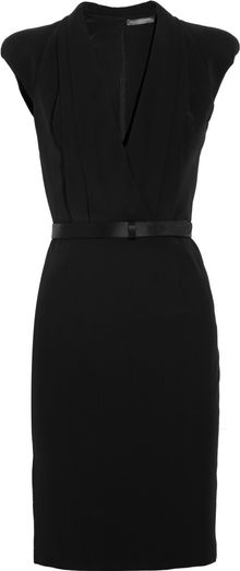 Alexander McQueen Crepe Wrap-Effect Dress - Lyst