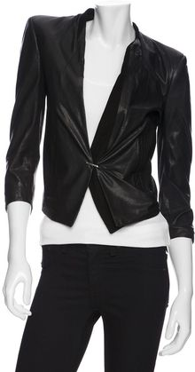 Helmut Lang Preorder Waxed Leather Blazer - Lyst