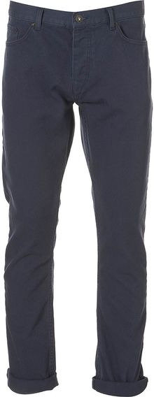 Topman Washed Navy Vintage Slim - Lyst