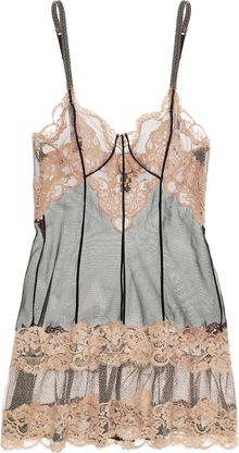 La Perla Lace and Tulle Chemise - Lyst