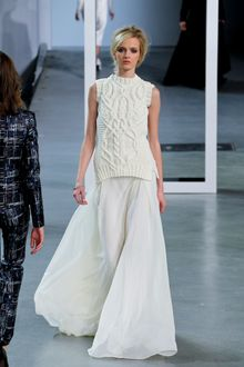 Derek Lam Fall 2012 Long Chiffon Skirt in White - Lyst