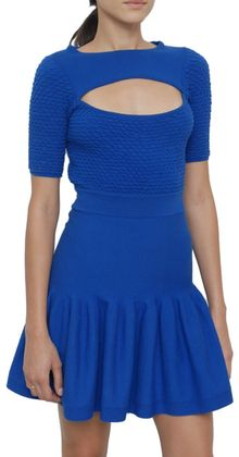 McQ by Alexander McQueen Knitted Dress with Cut-out - Lyst