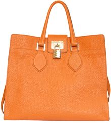 Roberto Cavalli Large Florence Grained Leather Bag - Lyst