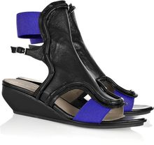 Raphael Young Zeppe Leather Wedge Sandals - Lyst