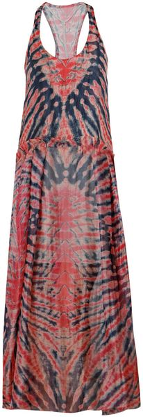 Raquel Allegra Silk Tie Dye Dress - Lyst
