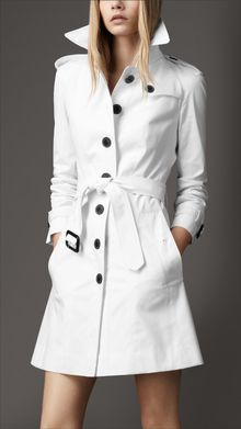 Burberry Single Breasted Trench Coat - Lyst