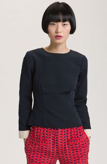 Marc By Marc Jacobs Marfa Structured Cotton & Silk Top - Lyst
