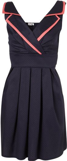 Topshop Spot Tie Back Dress By Wal G** - Lyst
