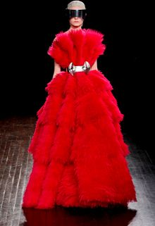 Alexander McQueen Fall 2012 Ruffle Feather Organza Ball Gown  - Lyst