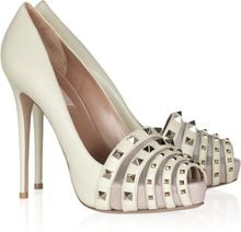 Valentino Studded Leather Pumps - Lyst