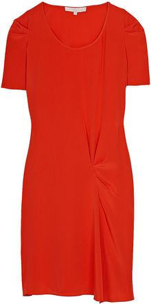 Vanessa Bruno Gathered Shoulder Dress - Lyst