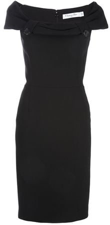 Dior Button Detail Dress - Lyst
