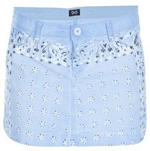 D&G Denim Mini Skirt - Lyst
