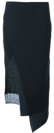 Helmut Lang Multilayered Panelled Skirt - Lyst