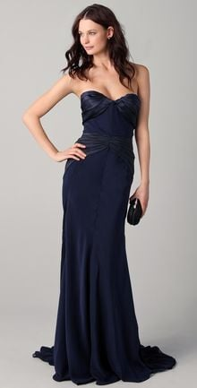 Zac Posen Duchess Satin Gown - Lyst