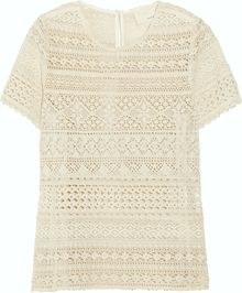 Girl. By Band Of Outsiders Cerise Cotton-Lace Top - Lyst