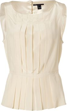 Marc By Marc Jacobs Tapioca Cream Streak Silk Top - Lyst