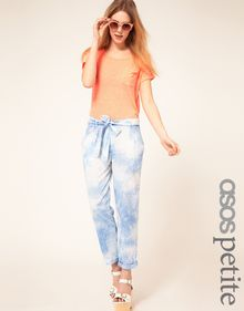 ASOS Collection Asos Petite Exclusive Tie Dye Soft Chino - Lyst