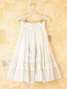 Free People Vintage Lace Tiered Floral Skirt - Lyst