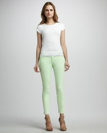 Current/Elliott The Stiletto Lime Jeans - Lyst