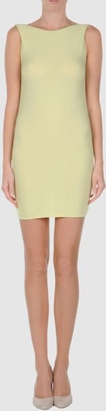 Jil Sander Navy Short Dress - Lyst