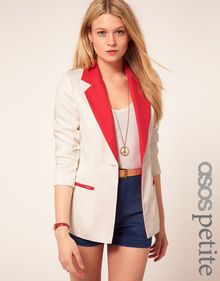 ASOS Collection Asos Petite Exclusive Jacket with Contrast Trim - Lyst