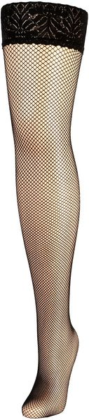 Jonathan Aston Fishnet Lace Top Hold Ups - Lyst