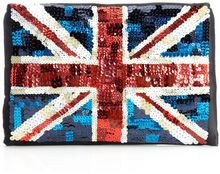 Lulu Guinness Felicity Union Jack Clutch Bag - Lyst