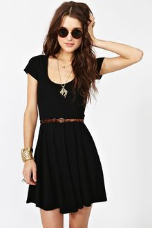 Nasty Gal Crossed Skater Dress - Lyst