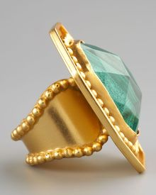 Stephanie Anne Malachite Ring - Lyst