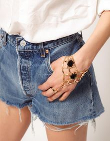 Asos  Stone Set Hand Harness - Lyst
