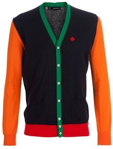 DSquared2 Cotton Cardigan - Lyst