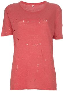 Iro Clay Distressed Knitted Tshirt - Lyst